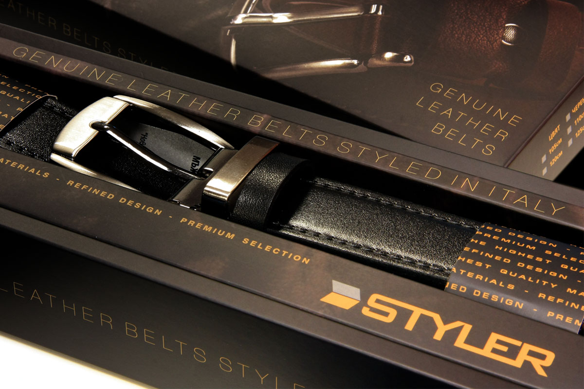 Кутия за колан Styler, изработка на Медия Дизайн