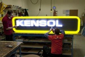 Светещи обемни букви Kensol от рекламна агенция Медия Дизайн