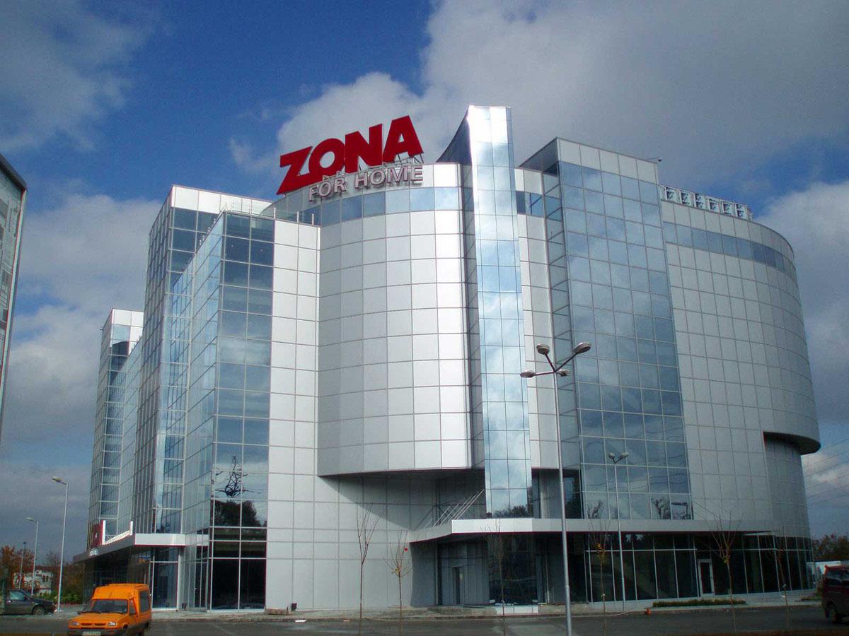 Светещи обемни букви от алуминий за магазин Zona for home