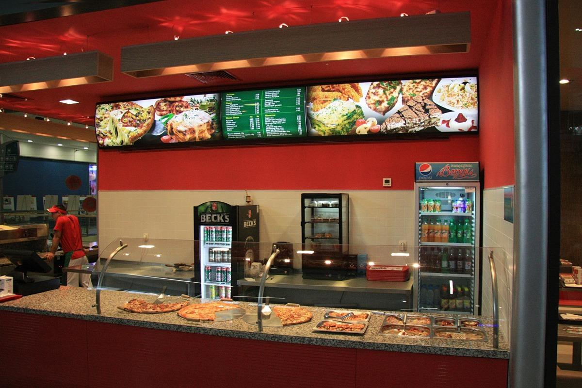 Дизайн и изработка на светещо меню за пицария, Стара Загора