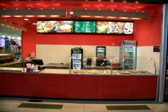 Illuminated acrylic menu for Pizza Verdi