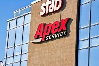 Светещи обемни букви от алуминий Apex Service