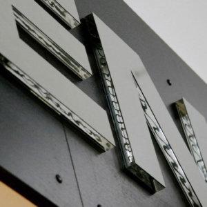 Обемни букви от плексиглас, релефни Kensol