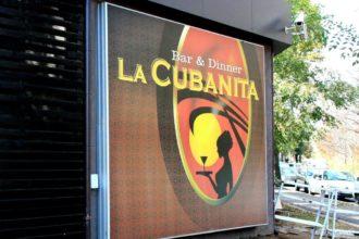 Attractive illuminated sign for La Cubanita, Sofia