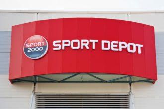 Светещи плексигласови букви Sport Depot, Пловдив