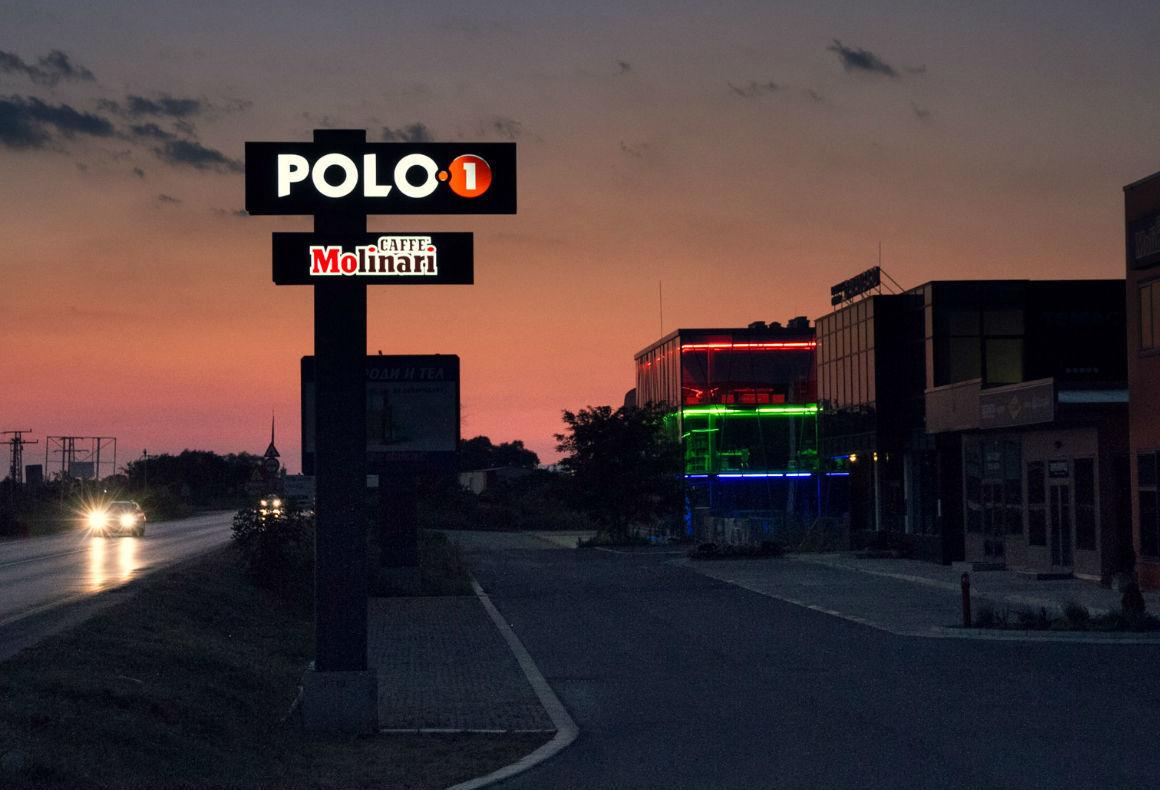 Светещ тотем за Polo1, външна реклама