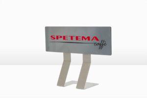 Реклама на Спетема кафе, табелка от плексиглас и метална основа
