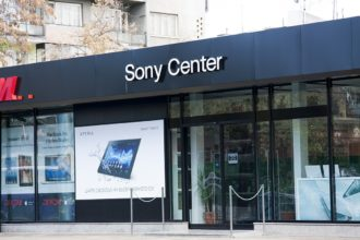 Sony Center Пловдив, светещи букви с плексиглас и алурапид