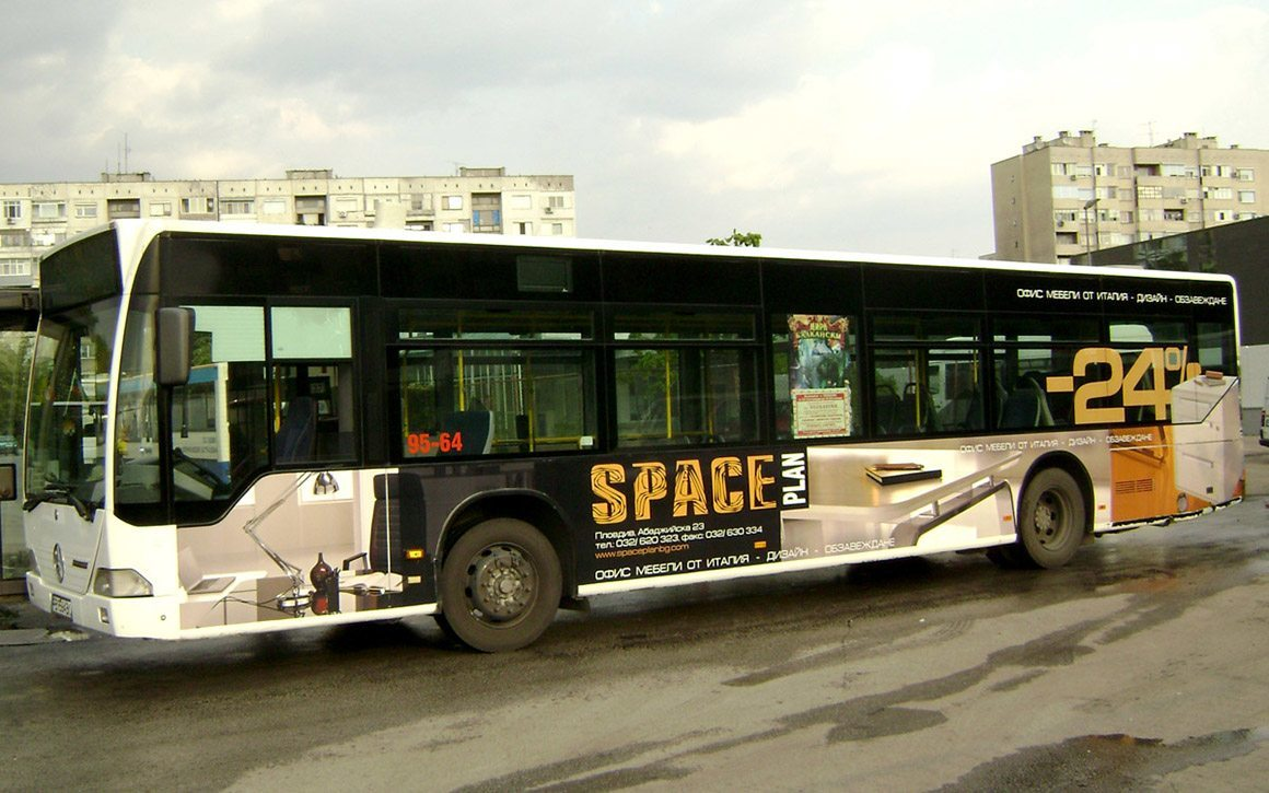 Брандиране на автобус с 3M фолио, Space Plan