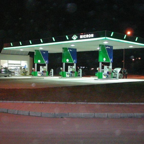 Gas station Micron received illuminated advertising