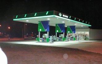 Бензиностанция Micron светещи рекламни елементи