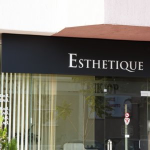 Esthetique illuminated outdoor advertising