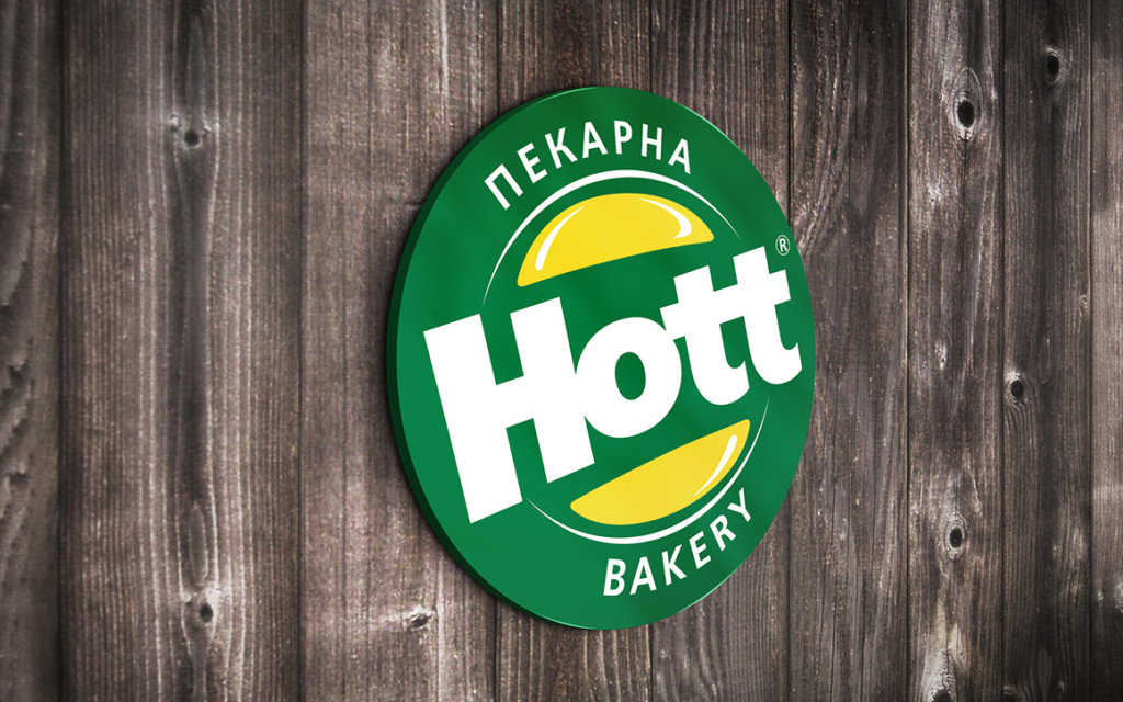 Дизайн и изработка от Медия Дизайн на лого за пекарна Hott Bakery