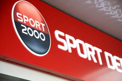 Sport Depot with new composite panel sign with embedded acrylic letters