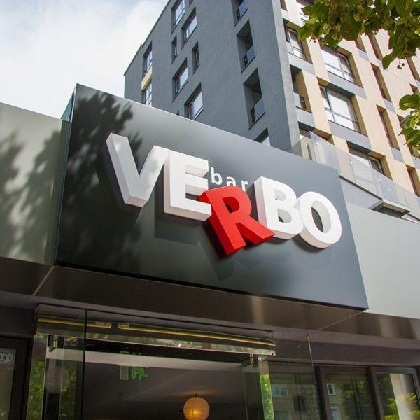 Illuminated channel letter Bar Verbo, Plovdiv