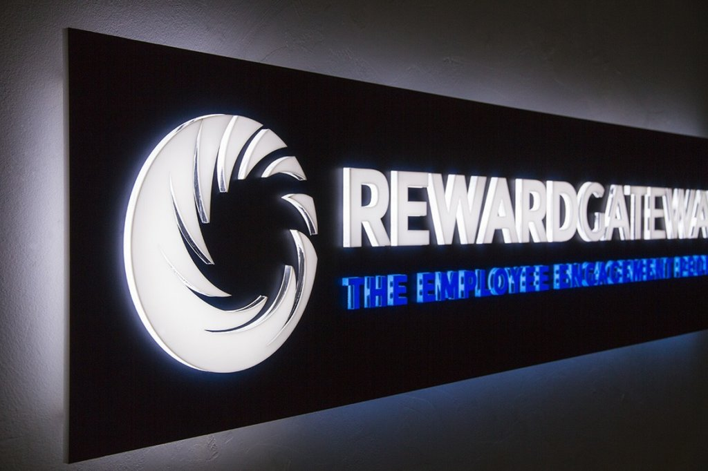 Plexiglass illuminated sign - Reward Gateway
