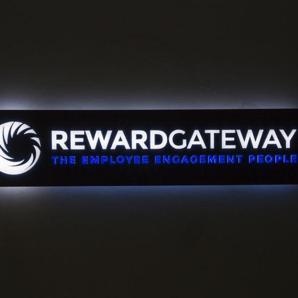 Reward Gateway - illuminated acrylic sign