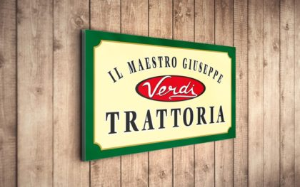 Tratoria Verdi дизайн на лого за ресторант
