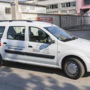 Aiger with completely branded company vehicles