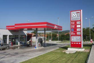 Външна реклама за бензиностанция