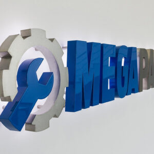 Mega Parts inox channel letters