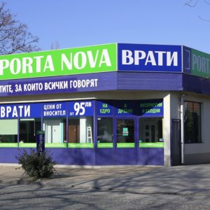 Porta Nova Doors sign