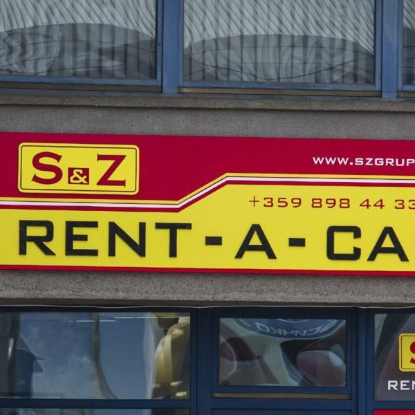 S&Z Rent A Car with new illuminated signs