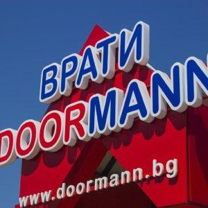 Doormann Doors illuminated channel letters, Sofia