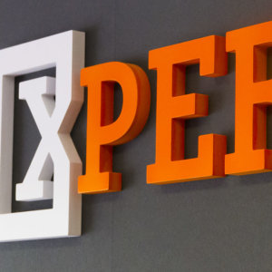 Interior acrylic channel letters Expert Doors