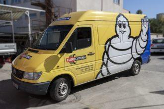 Брандиране на фирмени автомобили за Еврокатена