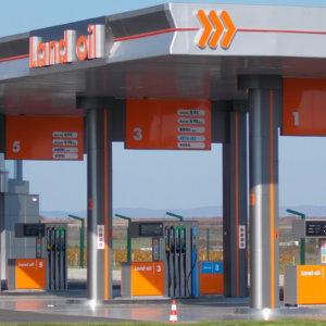 Land Oil frieze signs