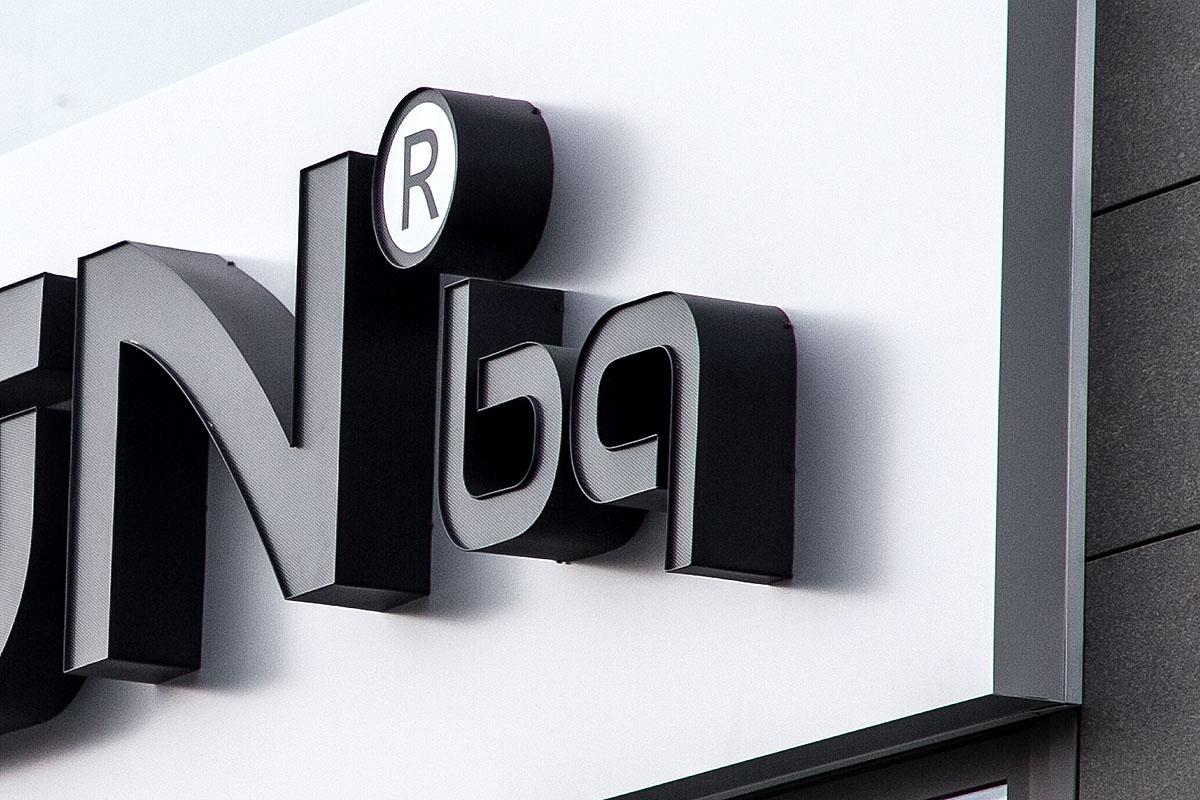 Обемни букви с ефект ден-нощ за Nukon