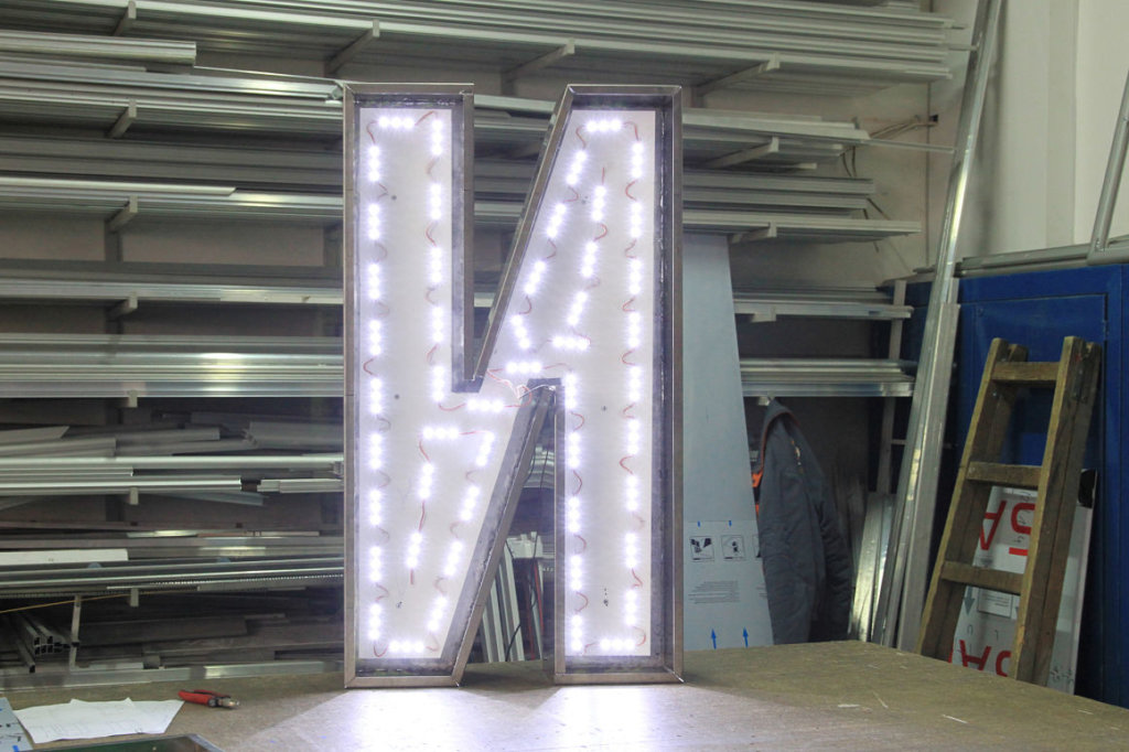 Illuminated channel letters