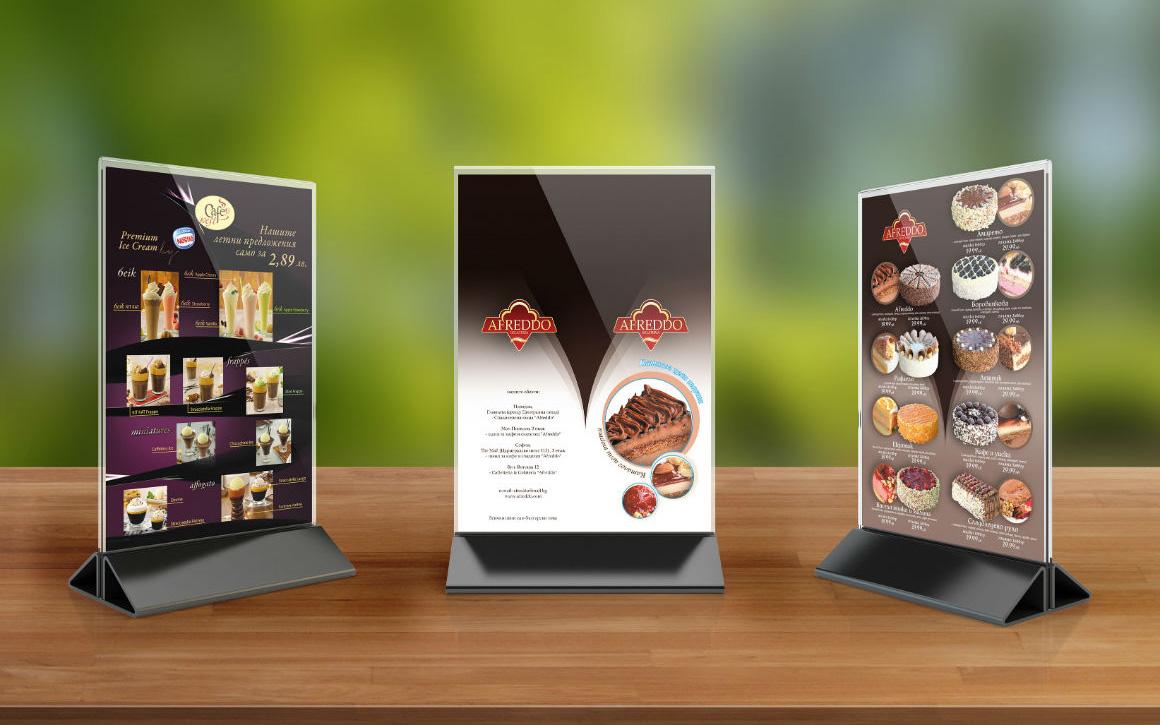 Изделие от плексиглас - рекламна стойка за меню