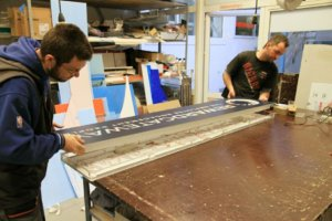 Making an acrylic face sign for RewardGateway
