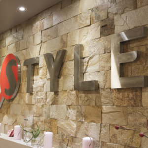 Restaurant Style inox interior channel letters