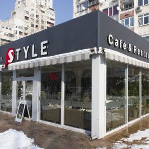 Outdoor advertising Style restaurant