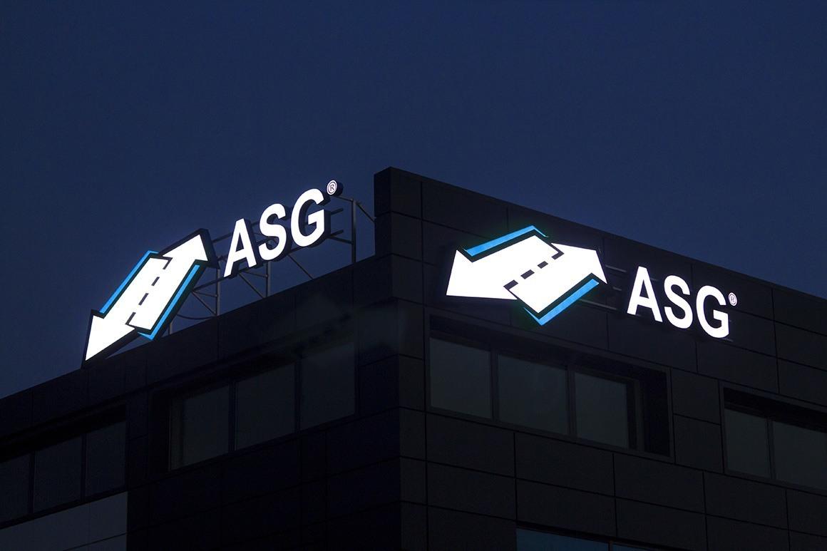 Светещи обемни букви и лого ASG