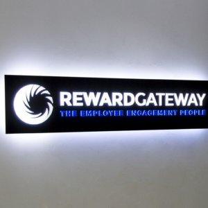 Reward Gateway - illuminated sign with blockout film