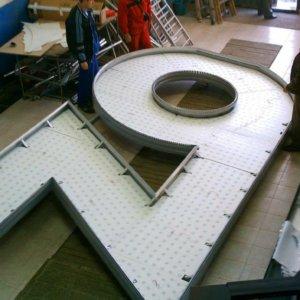 Много големи обемни букви от винил и алуминиеви профили, Zona for Home