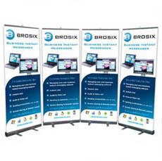 Рекламни материали, рол банер на Brosix