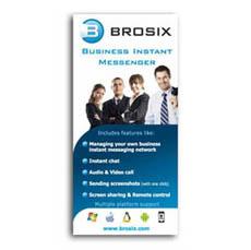 Рекламни материали, дипляна на Brosix
