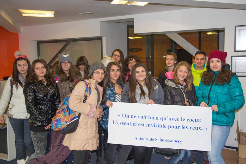 Ученици от Френската езикова гимназия в Пловдив в Медия Дизайн