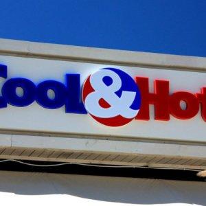 Illuminated advertising sign for Cool&Hott, Sveti Vlas