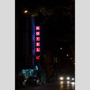 Светещи табели Hotel от плексиглас, Noviz hotel в Пловдив