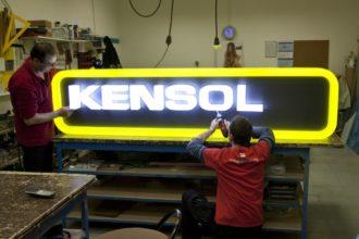 Светещи обемни букви Kensol, от плексиглас