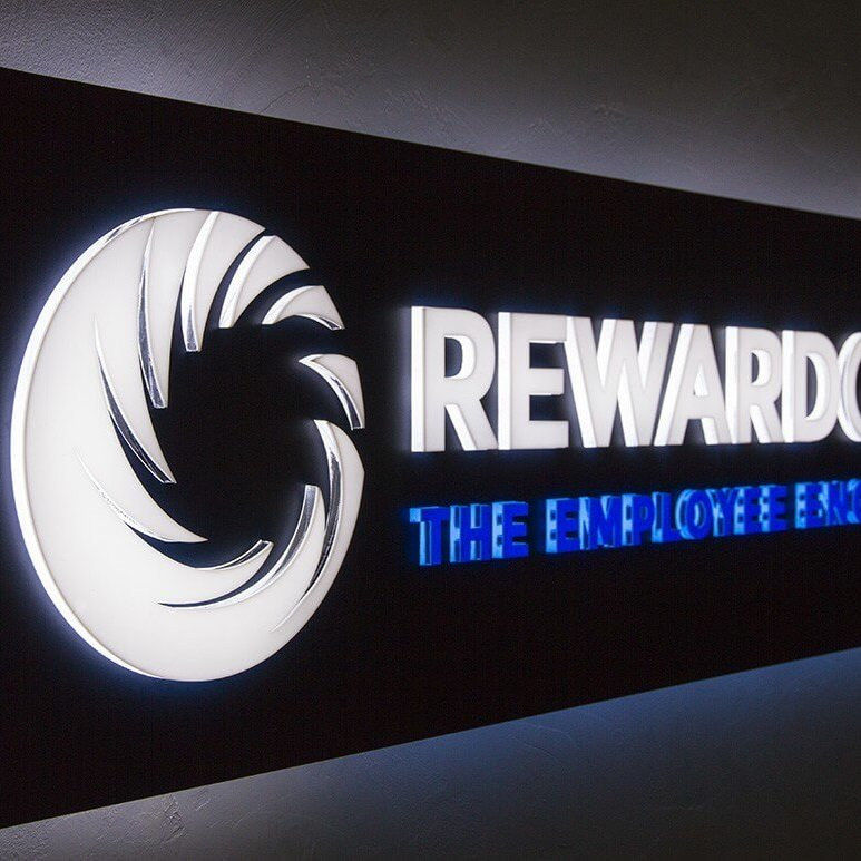 LED sign for Reward Gateway, Plovdiv