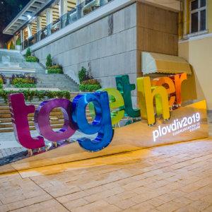 Channel letters Plovdiv 2019 Together
