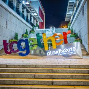 Together Plovdiv 2019 Channel letters