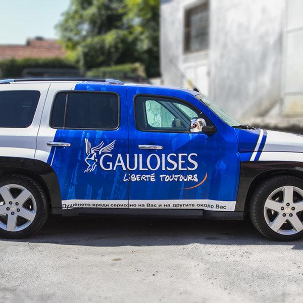 SIXT Chevrolet Gauloises car wrap